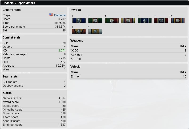 AK907 Clan Battlefield 3 End Game